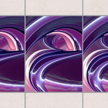Produktfoto Fliesen Bordüre - Circles in Purple...