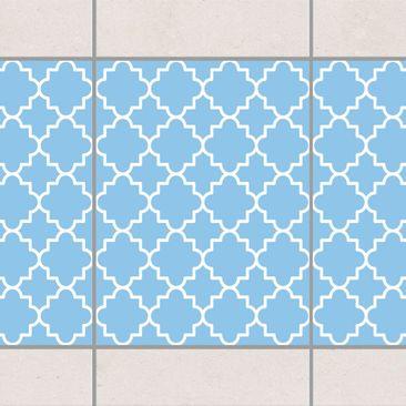 Produktfoto Fliesen Bordüre - Traditional Quatrefoil Light Blue 20x15 cm - Fliesenaufkleber Blau