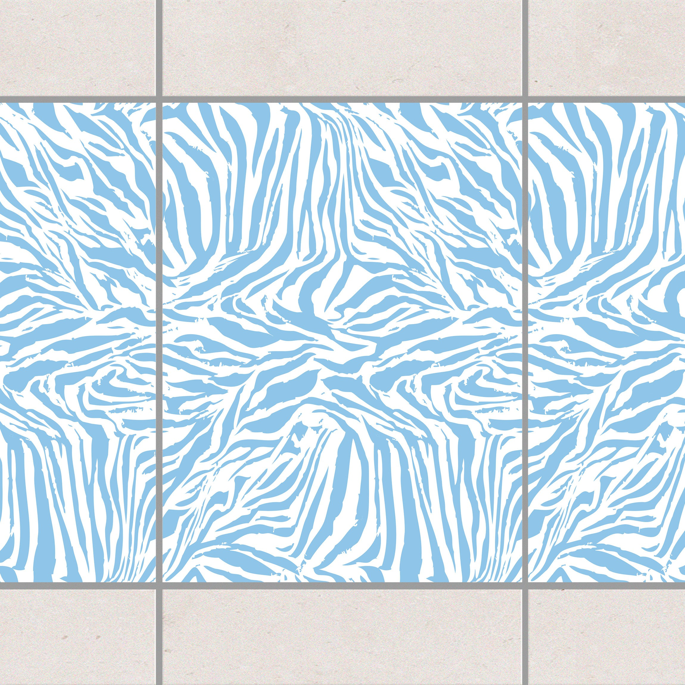 fliesen bord re zebra design light blue 20x15 cm fliesenaufkleber blau. Black Bedroom Furniture Sets. Home Design Ideas