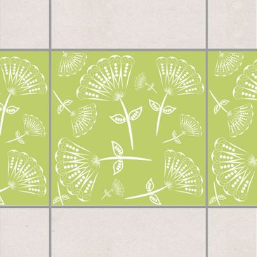 Product picture Tile Border - Fairy Fan-flowers in the...