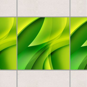 Product picture Tile Border - Green Composition 10cm x...