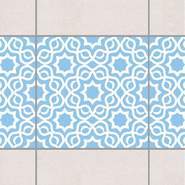 Product picture Tile Border - Islamic Light Blue 10cm x...