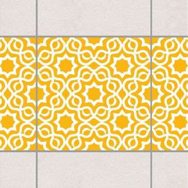 Product picture Tile Border - Islamic Melon Yellow 10cm...