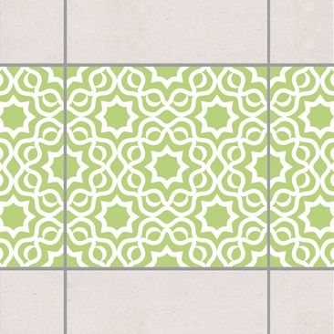 Product picture Tile Border - Islamic Spring Green 10cm...