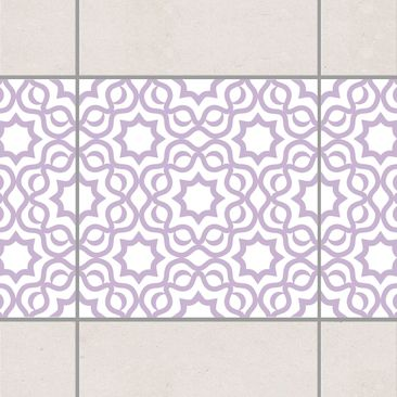 Product picture Tile Border - Islamic White Lavender...