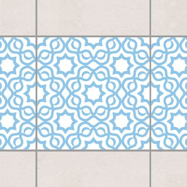 Product picture Tile Border - Islamic White Light Blue...