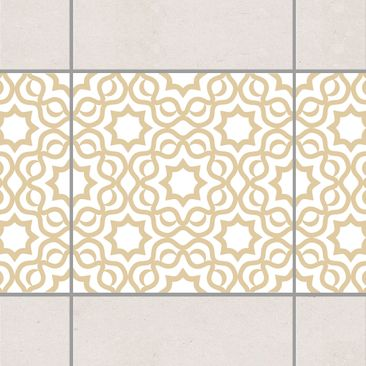 Product picture Tile Border - Islamic White Light Brown...