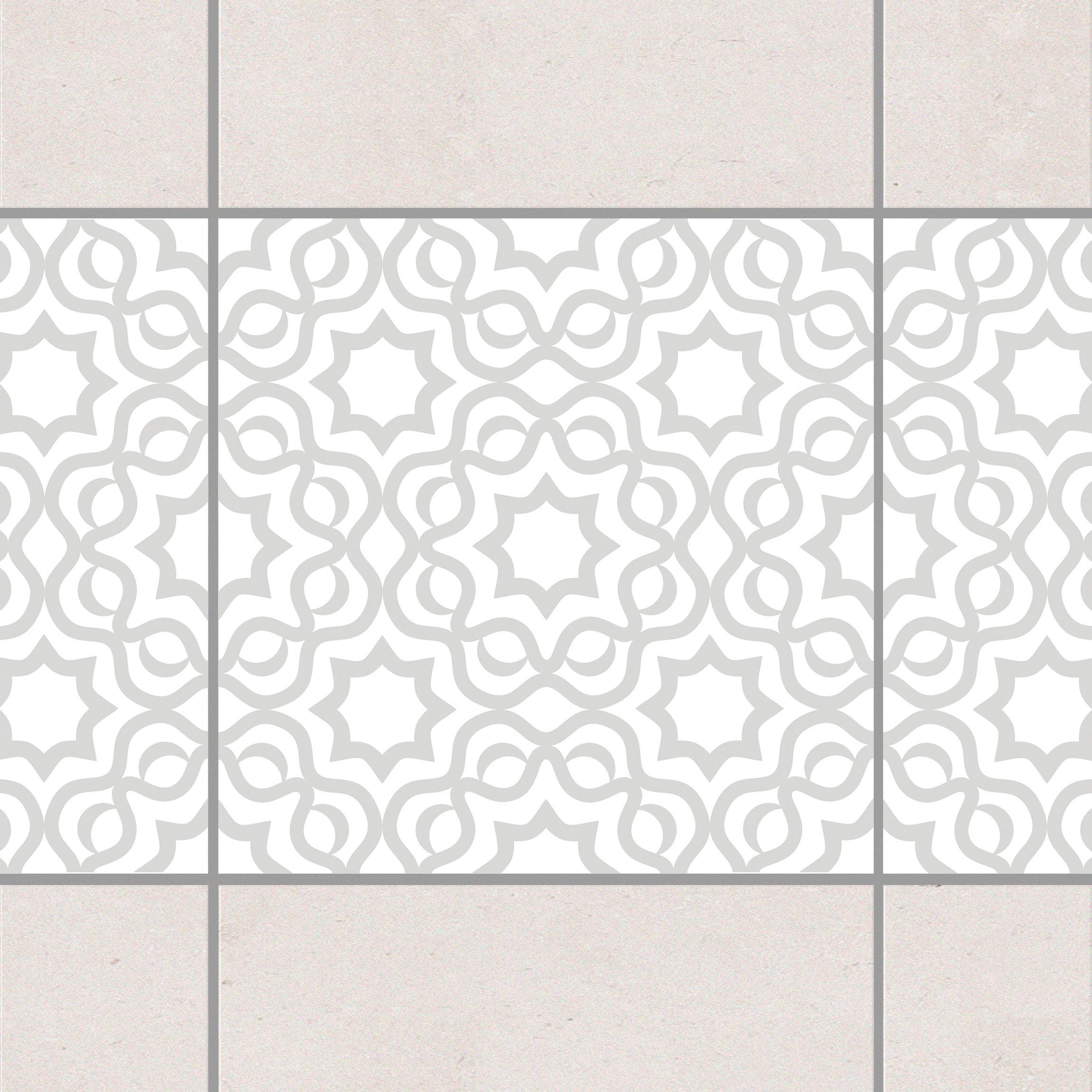 fliesen bord re islamic white light grey 10x10 cm fliesenaufkleber grau. Black Bedroom Furniture Sets. Home Design Ideas