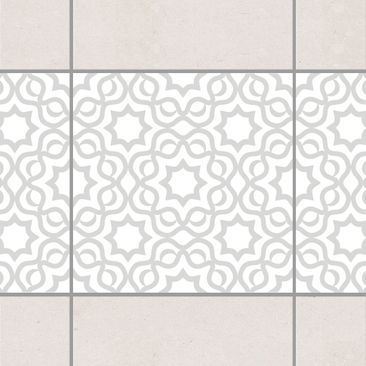 Product picture Tile Border - Islamic White Light Grey...
