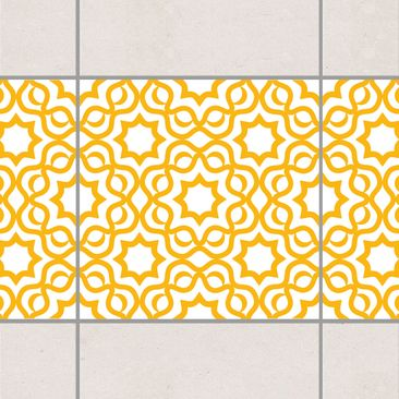 Product picture Tile Border - Islamic White Melon Yellow...