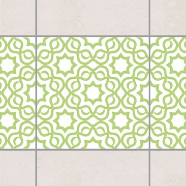 Product picture Tile Border - Islamic White Spring Green...