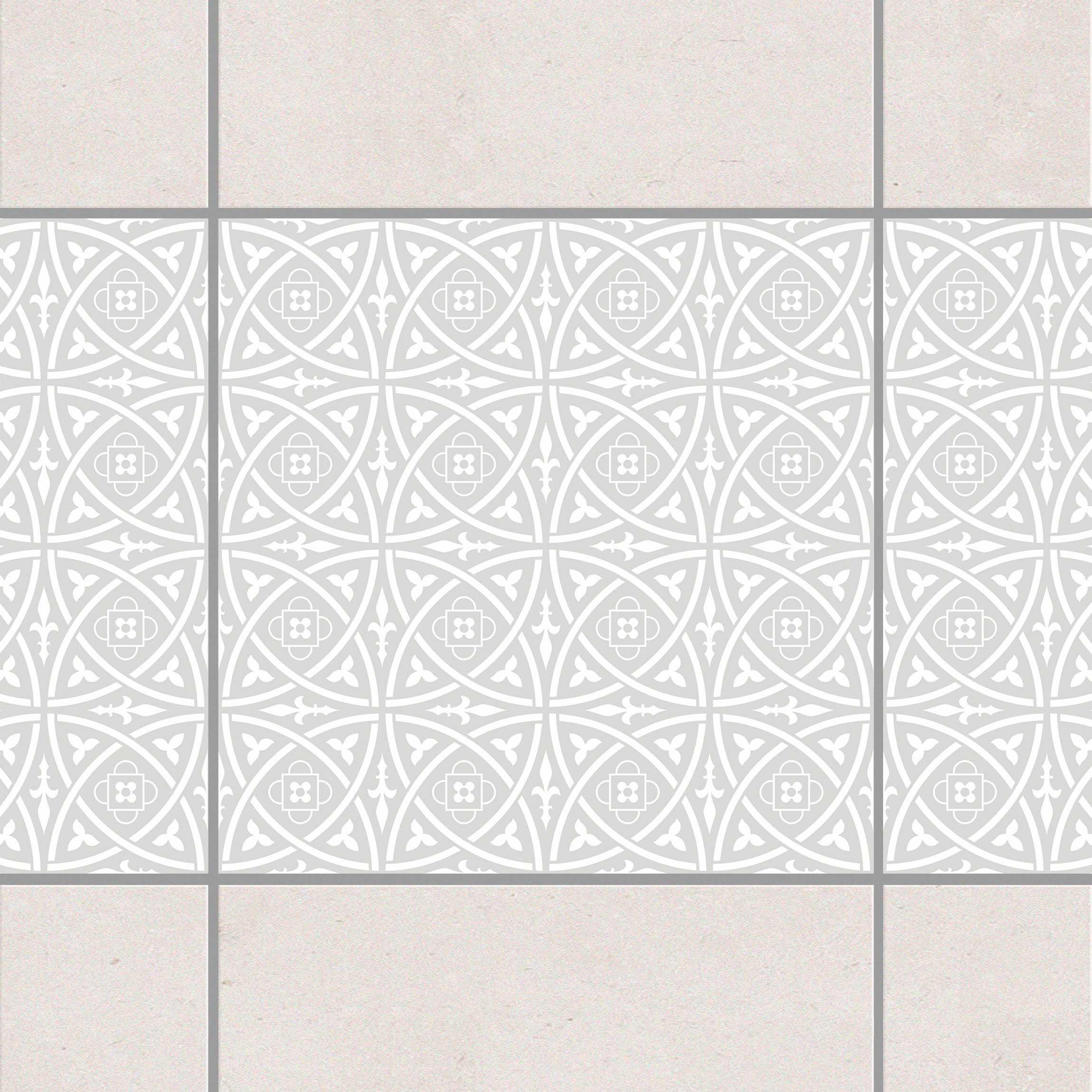 fliesen bord re keltisch light grey 10x10 cm fliesenaufkleber grau. Black Bedroom Furniture Sets. Home Design Ideas