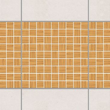 Immagine del prodotto Bordo adesivo per piastrelle - Mosaic Tiles Imitation wood white fir 10cm x 10cm