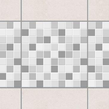 Produktfoto Fliesen Bordüre   Selbstklebende Mosaikfliesen Winterset 10x10  Cm   Fliesenaufkleber
