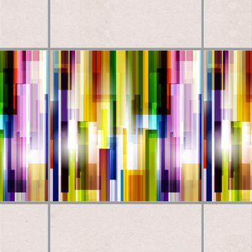 Product picture Tile Border - Rainbow Cubes 10cm x 10cm