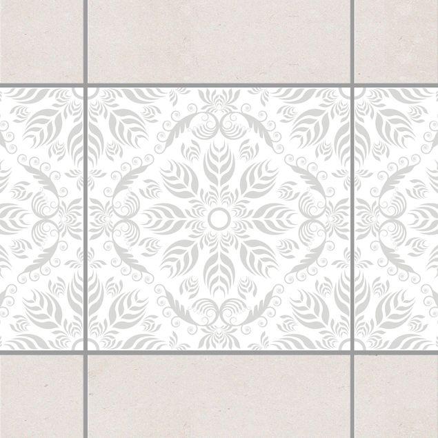 fliesen bord re rosamunde white light grey 10x10 cm fliesenaufkleber grau. Black Bedroom Furniture Sets. Home Design Ideas