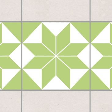 Product picture Tile Border - Star pattern Spring Green...