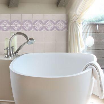 Product picture Tile Border - Tile Pattern Lavender 20cm...