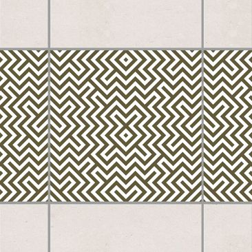 Produktfoto Tile Border - Geometric Design Brown...