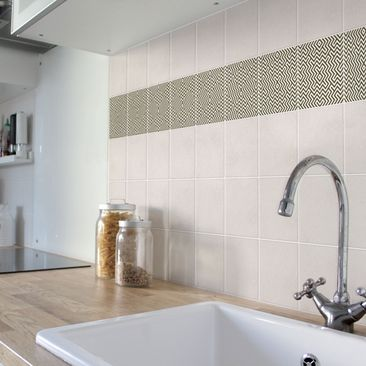 Product picture Tile Border - Geometric Design Brown...
