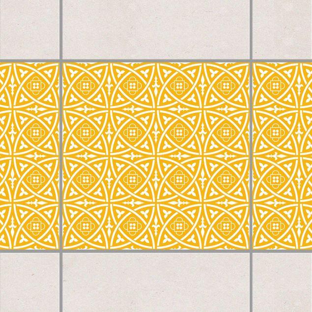 Produktfoto Fliesen Bordüre - Keltisch Melon Yellow 20x20 cm - Fliesenaufkleber Gelb