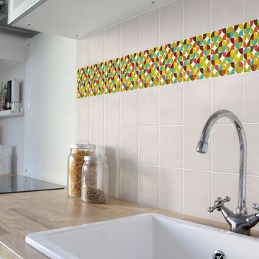 Product picture Tile Border - Circles in the quarter...