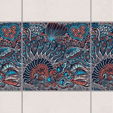 Product picture Tile Border - Reef Garden At Night 20cm...