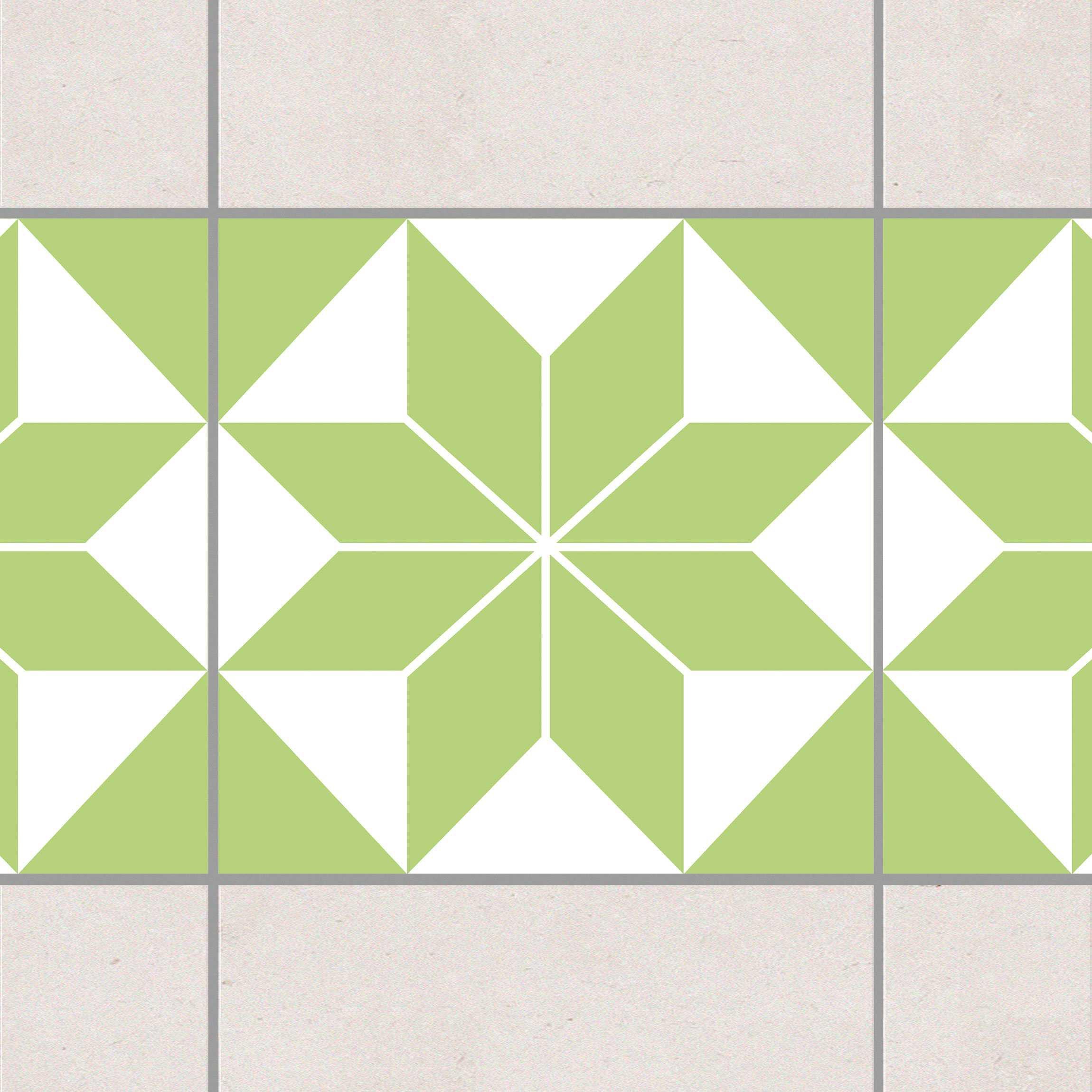 fliesen bord re sternenmuster spring green 20x20 cm fliesenaufkleber gr n. Black Bedroom Furniture Sets. Home Design Ideas
