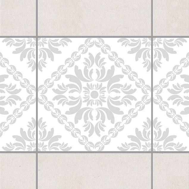 fliesen bord re vera rosa white light grey 20x20 cm fliesenaufkleber grau. Black Bedroom Furniture Sets. Home Design Ideas