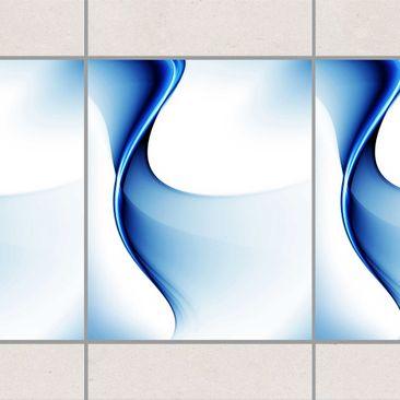 Produktfoto Fliesen Bordüre - Blaue Wandlung 25x20 cm - Fliesenaufkleber
