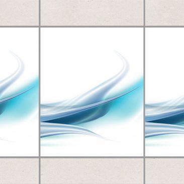 Produktfoto Fliesen Bordüre - Blue Dust 25x20 cm - Fliesenaufkleber Blau