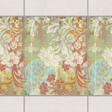 Produktfoto Fliesen Bordüre - Blüten vergangener Zeit 25x20 cm - Fliesenaufkleber