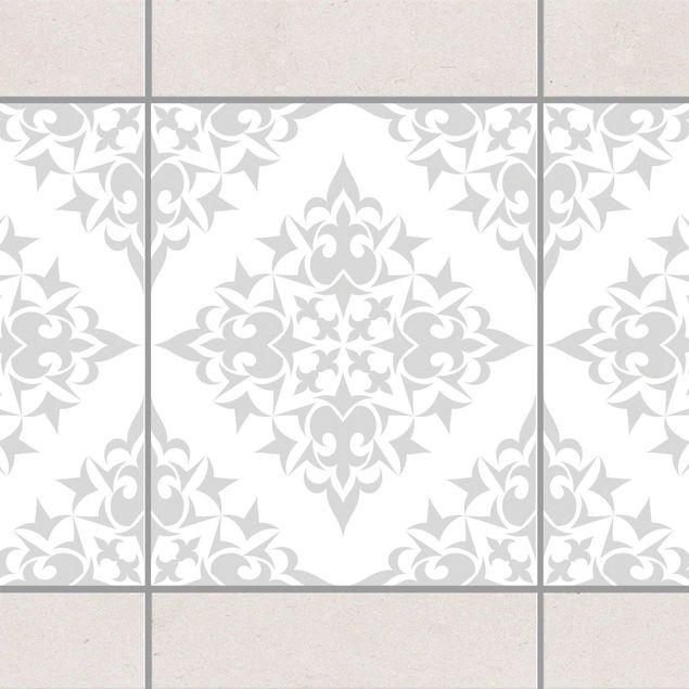 fliesen bord re fliesenmuster white light grey 25x20 cm fliesenaufkleber grau. Black Bedroom Furniture Sets. Home Design Ideas