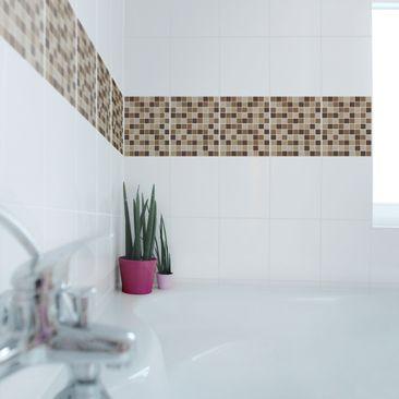 Produktfoto Fliesen Bordüre - selbstklebende Mosaikfliesen Herbstset 25x20 cm - Fliesenaufkleber