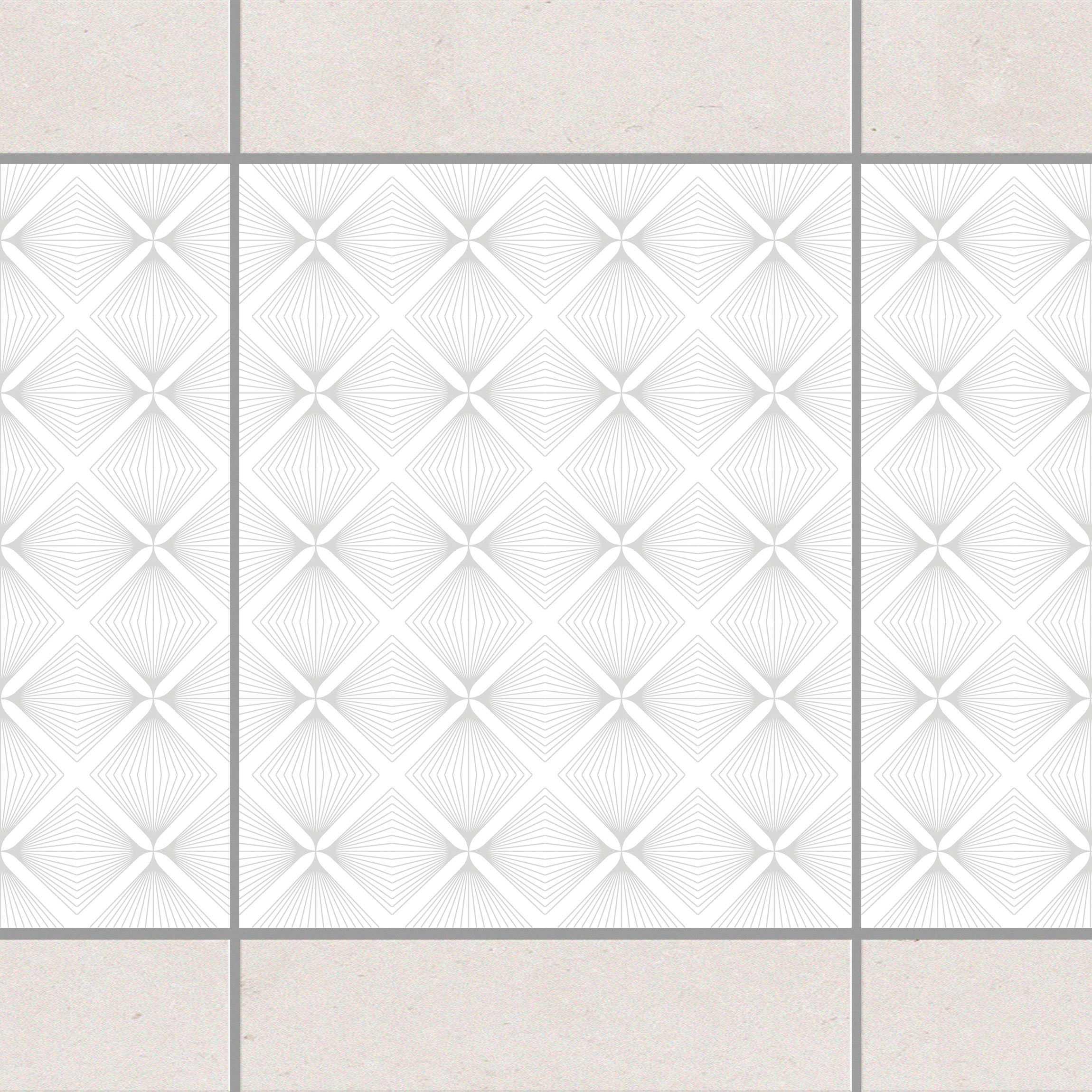 fliesen bord re zartes vintage caro white light grey 25x20 cm fliesenaufkleber grau. Black Bedroom Furniture Sets. Home Design Ideas