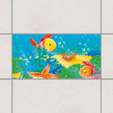Produktfoto Fliesen Bordüre - Aquatic Live 30x60 cm - Fliesenaufkleber