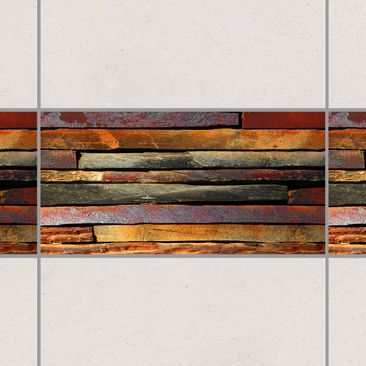 Product picture Tile Border - Stack of Planks 30cm x...