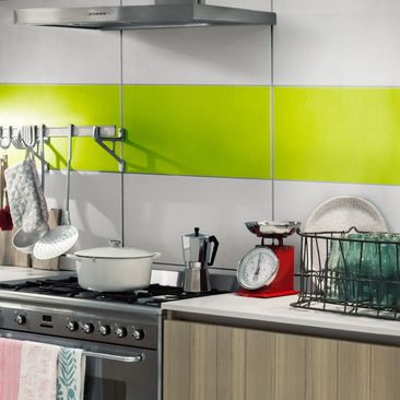 Product picture Tile Border - Yellow Green 30cm x 60cm