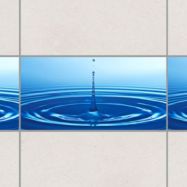Product picture Tile Border - Drop with Waves 30cm x...