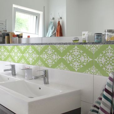 Product picture Tile Border - Tile Pattern Spring Green...