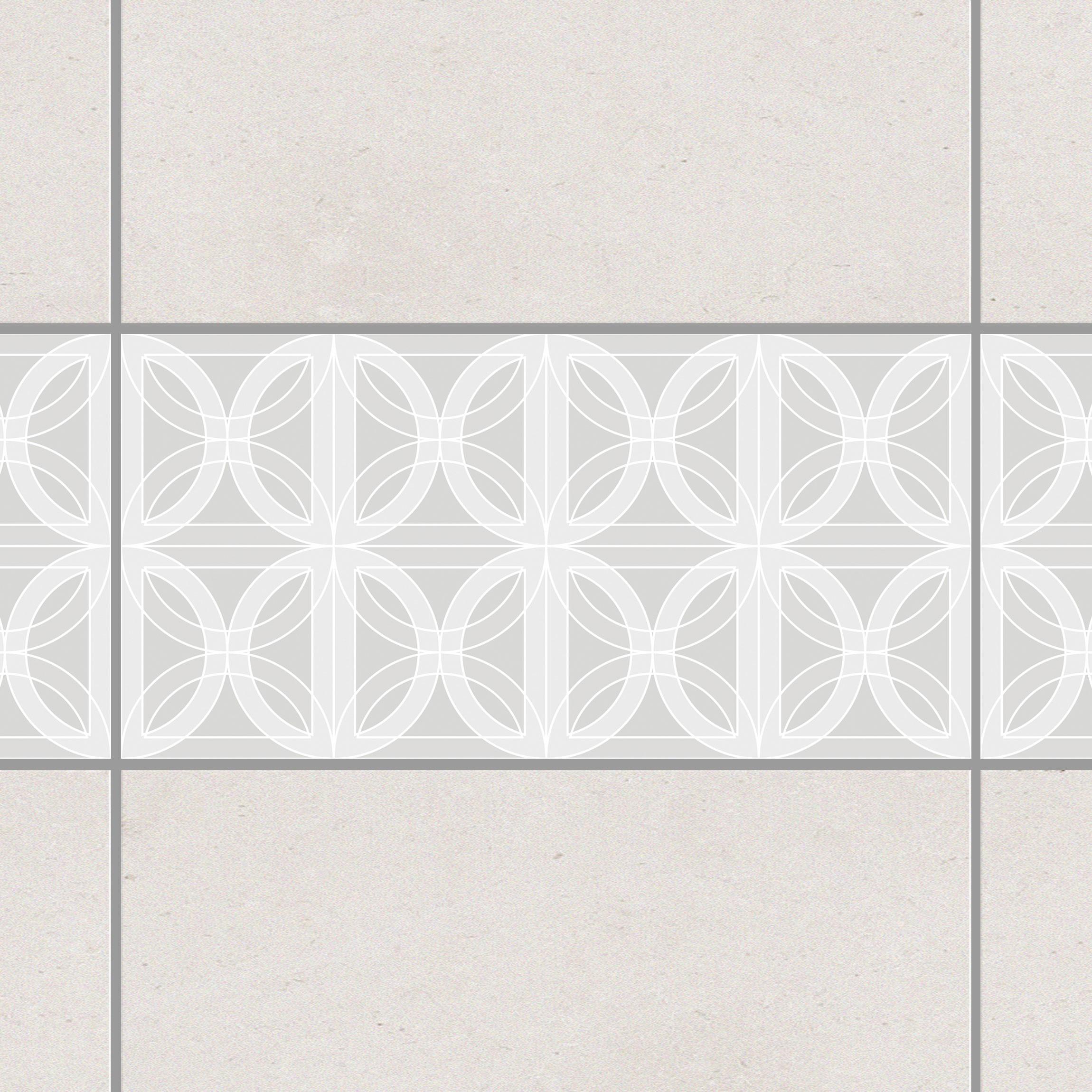 fliesen bord re kreisf rmiges fliesendesign light grey 30x60 cm fliesenaufkleber grau. Black Bedroom Furniture Sets. Home Design Ideas