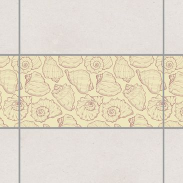 Product picture Tile Border - Design molluscs 30cm x...