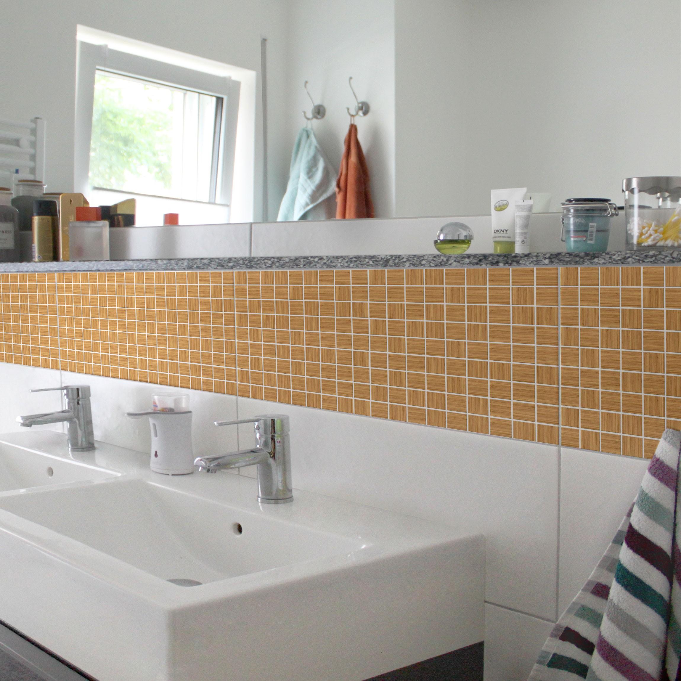 Fliesen Bordüre   Mosaikfliese Holzoptik Weißtanne 30x60 Cm    Fliesenaufkleber
