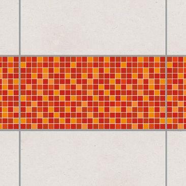 Produktfoto Fliesen Bordüre - selbstklebende Mosaikfliesen Sonnenaufgang 30x60 cm - Fliesenaufkleber