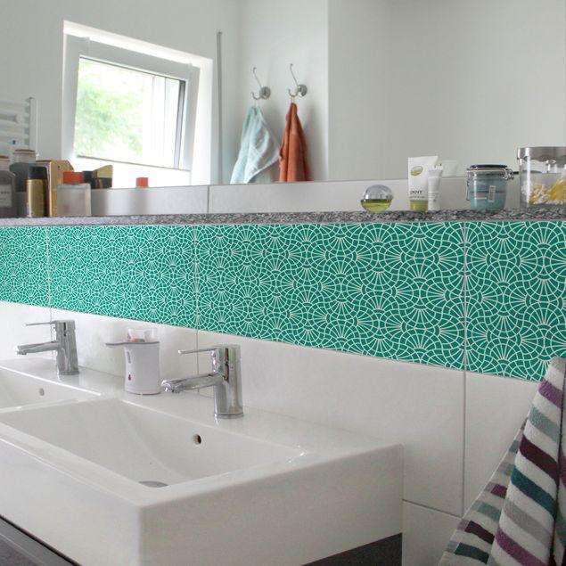 Produktfoto Fliesen Bordüre - Welle Im Pflaster 30x60 cm - Fliesenaufkleber