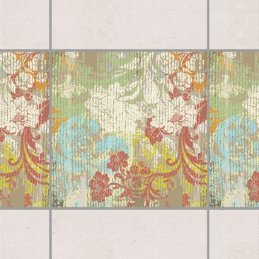 Product picture Tile Border - Flowers Of Past Time 15cm...