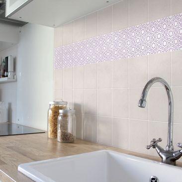 Product picture Tile Border - Islamic White Lavender...