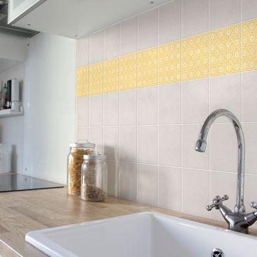 Product picture Tile Border - Celtic White Melon Yellow...