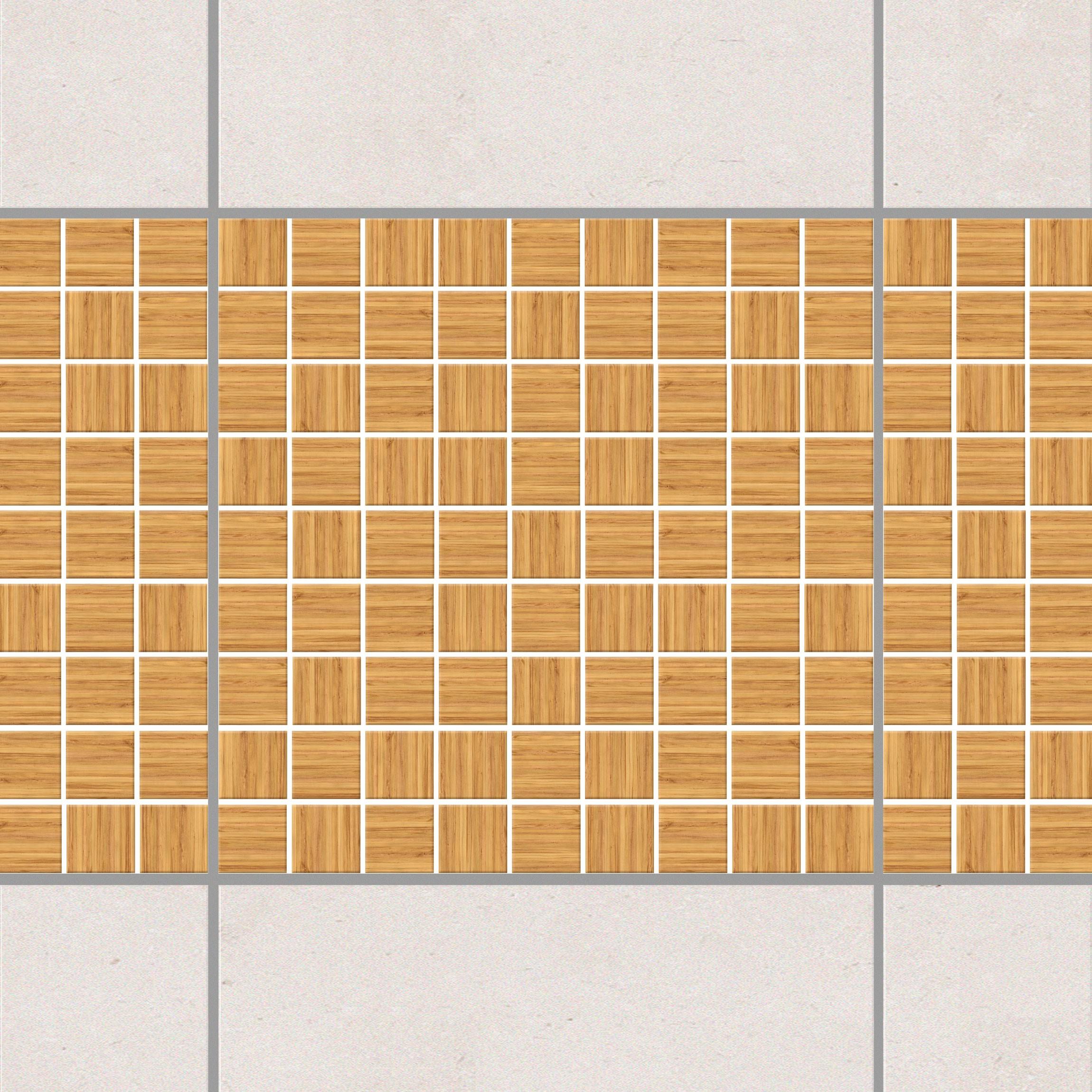Selbstklebende Mosaikfliesen: Selbstklebende Mosaikfliesen Holzoptik