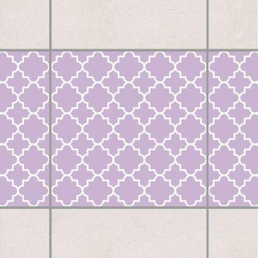 Produktfoto Fliesen Bordüre - Traditional Quatrefoil Lavender 15x15 cm - Fliesenaufkleber Flieder